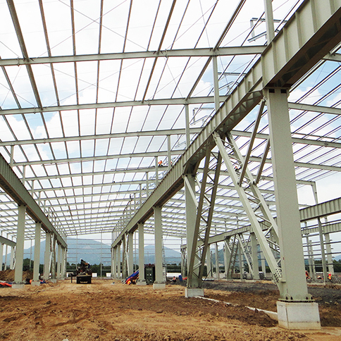 Ghana H-Beam Light Prefabricated Industrial Framing Steel Structure Garage Storage Building Shed Outdoor (3)
