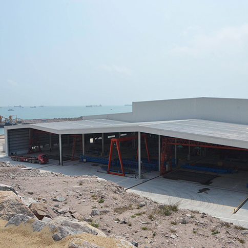 Ghana H-Beam Light Prefabricated Industrial Framing Steel Structure Garage Storage Building Shed Outdoor (4)
